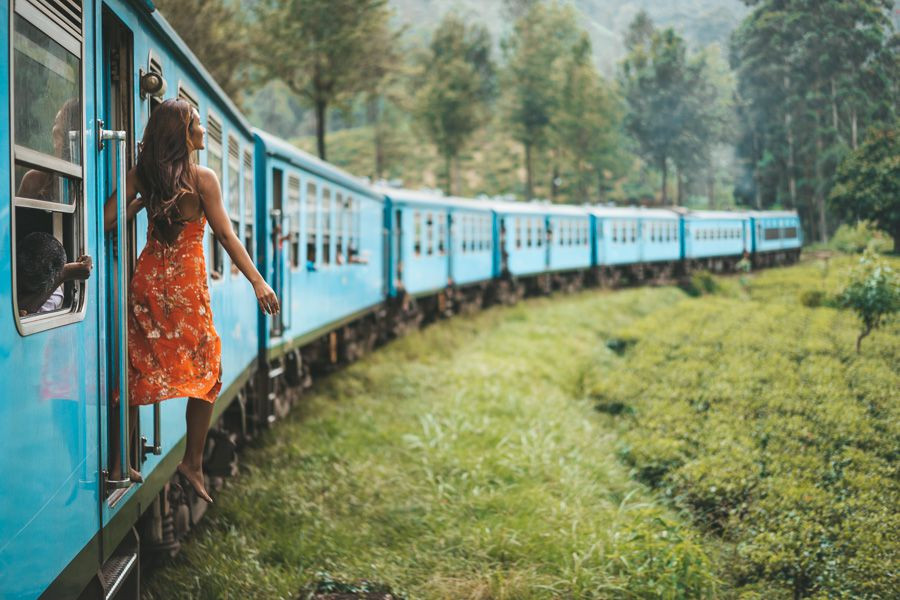 travelling by train magic world